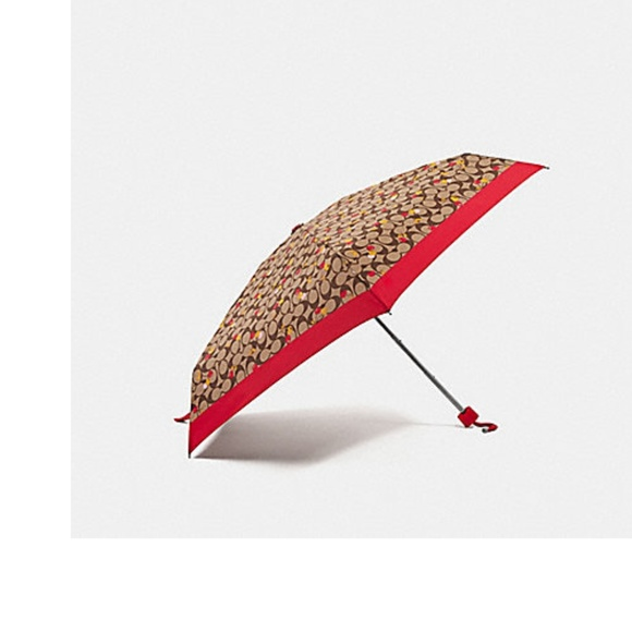 23c91e633e9 Coach SIGNATURE Cherry Mini Umbrella